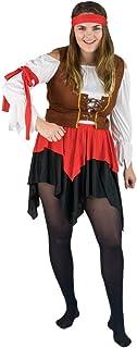 Bodysocks Fancy Dress Disfraz de Pirata para Mujer (Mediana