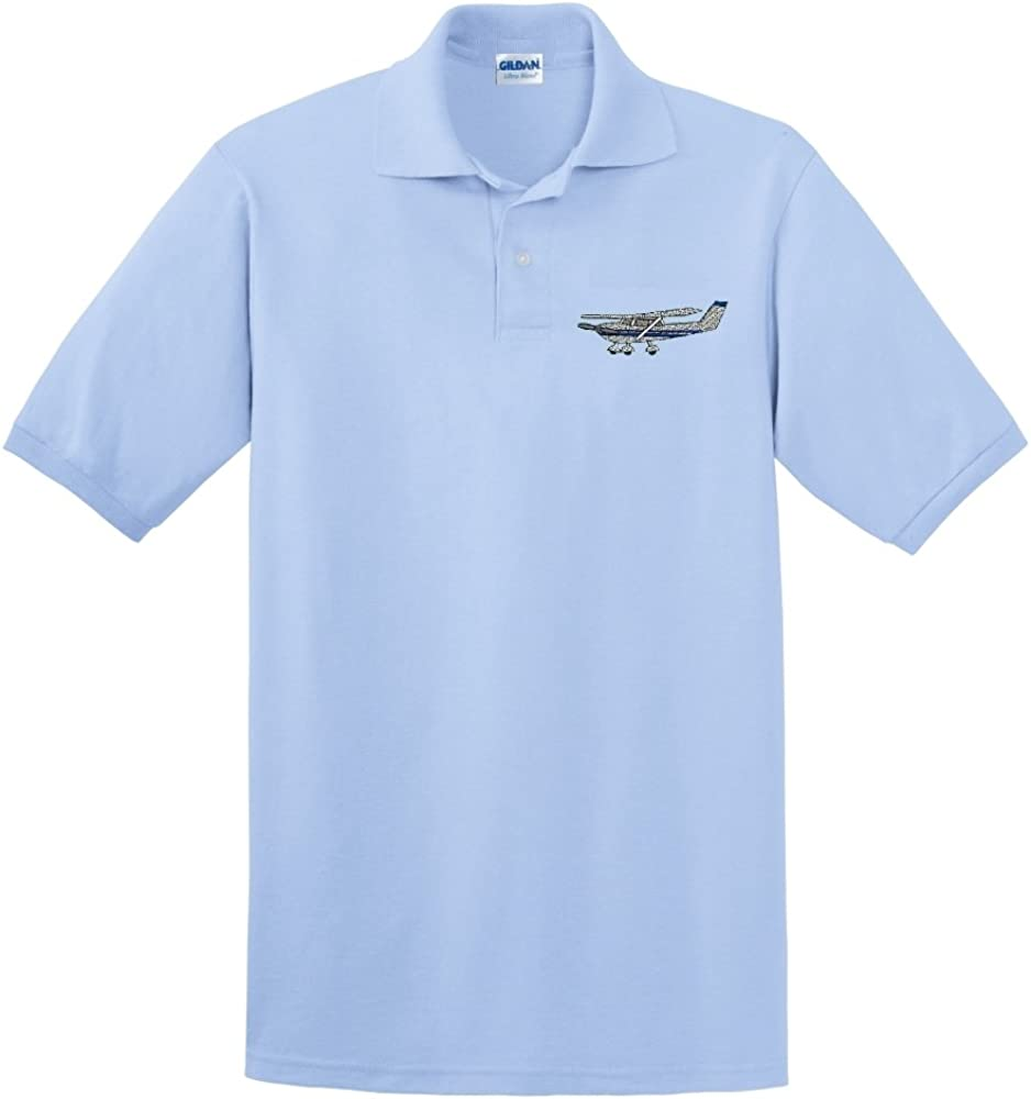 Custom Embroidered Cessna Airplane Design on Polo Shirt