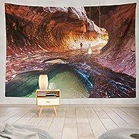 ANLAI 国立公園の観光風景壁掛けタペストリー ンンド 壁飾り 家 リビングルーム ベッドルーム 部屋 おしゃれ飾り 150cm x 150cm