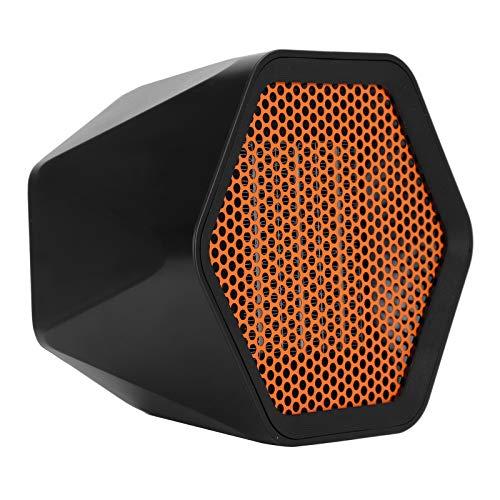 Dpofirs 600 W Mini Calentador de Escritorio para Casa y Oficinas, Calefactor Eléctrico de Ventilador sin Ruido para Invierno, 3 Segundos de Calentamiento Rápido, Calentador de Cerámica de Baño(600W)