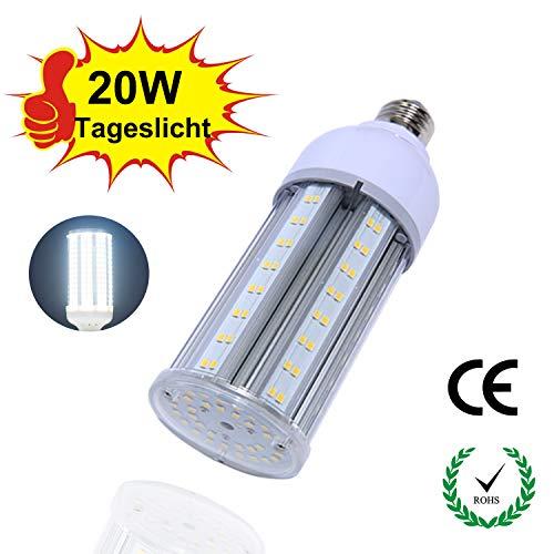 Superhelle LED Mais Glühbirne, E27 2400LM IP64 20W, LED Lampen für die Garage, Schule, Krankenhaus [Energieeffiziensklasse A ++]