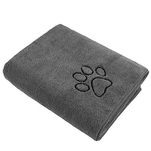 Toalla de baño de microfibra de doble densidad, para perros pequeños, medianos y grandes, 76,2 x 127 cm