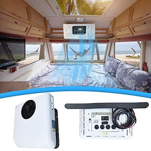 BLLJQ Aire Acondicionado Camper Techo, Caravana Enfriador, Salidas De Aire De 360 °, Control De Temperatura Inteligente, Impermeable, Enfriamiento Rápido En 1 Minuto, Módulo Integrado,Blanco,12V