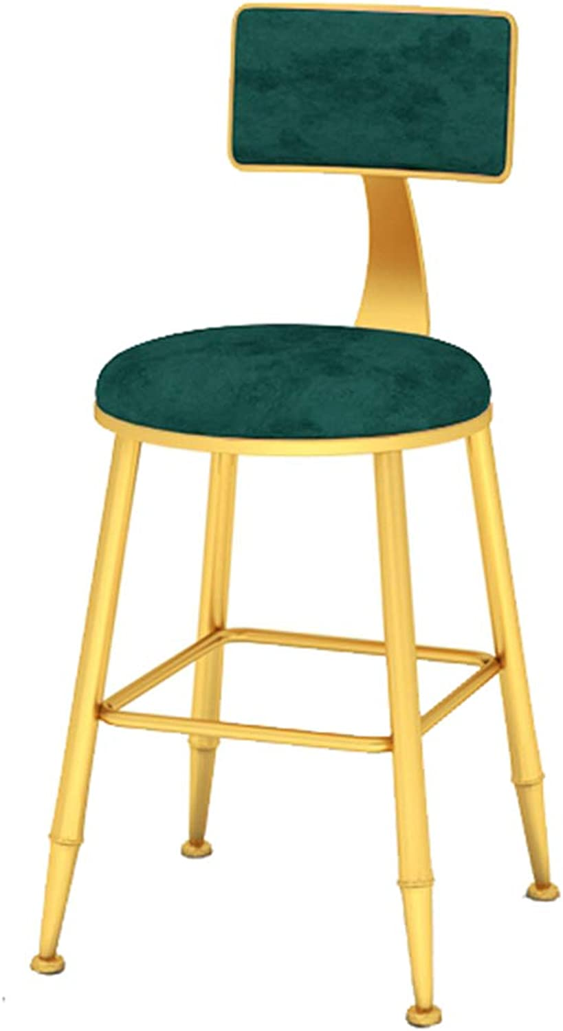 Minimalist Counter Bar Chairs Modern Breakfast Dining Chairs Round High Stools Upholstered Barstools with Backrest Bar Stools for Pub Kitchen Home Indoor Cafe