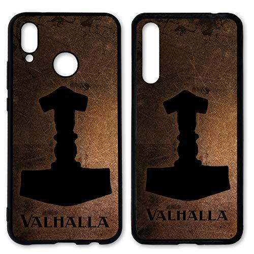 Handyhülle Valhalla für Huawei Silikon Odin Thor Viking Wikinger Gothic Freya, Kompatibel mit Handy:Huawei P9, Hüllendesign:Design 2 | Silikon Schwarz