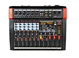 Audio2000'S AMX7372 Six-Channel Audio Mixer with 320 DSP Sound Effects, Stereo Sub Out with Sub-Out Level-Control Fader, Level-Control Faders on All Channels, and USB/Computer Interface