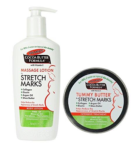 Palmer's Cocoa Butter Tummy Butter 4,4 oz. & Stretch Mark Massage Lotion 8.5 fl. oz. (Original Version)