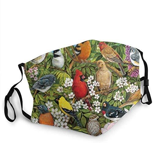 'N/A' WANGLJW Garden Birds Sun UV Protection Face scarf Neck Gaiter Windproof Scarf Sunscreen Breathable Bandana Balaclava for Sport Outdoor