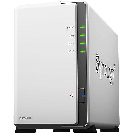 Synology NASキット 2ベイ DS220j クアッドコアCPU 512MBメモリ搭載 ライトユーザー向け 国内正規代理店品 電話サポート対応品 DiskStation