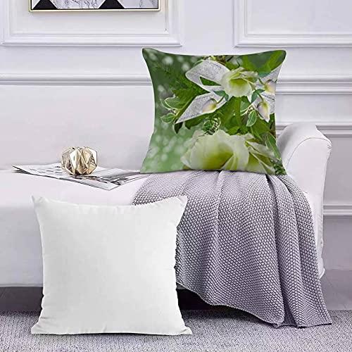 Funda de Cojín Funda de Almohada del Hogar Impresión Digital de Hermosas Rosas patrón Verde Sofá Throw Cojín Almohada Caso de la Cubierta para 45x45cm