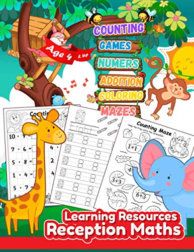 Learning Resources Reception Maths: Maths Books for 4 year olds and up,...