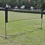 Ahomi - Rete da badminton per allenamento professionale, a rete quadrata, Verde