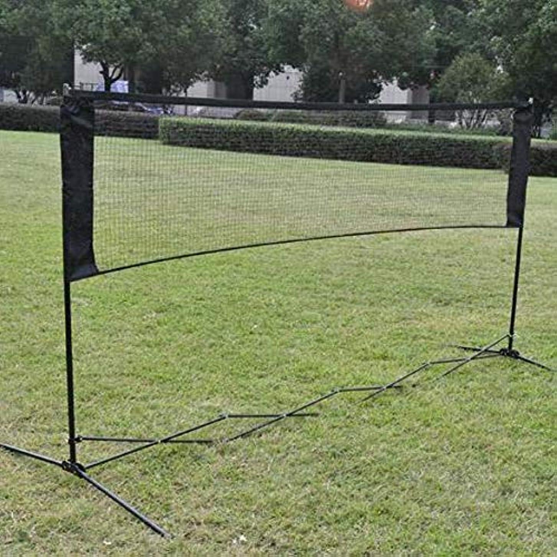 系統的バレーボール他の場所[Runcircle] バトミントンラケット バトミントン用ネット エアメッシュ プロ 組み立て簡単 コンパクト収納 練習用 庭 公園 適用(ネットだけ)