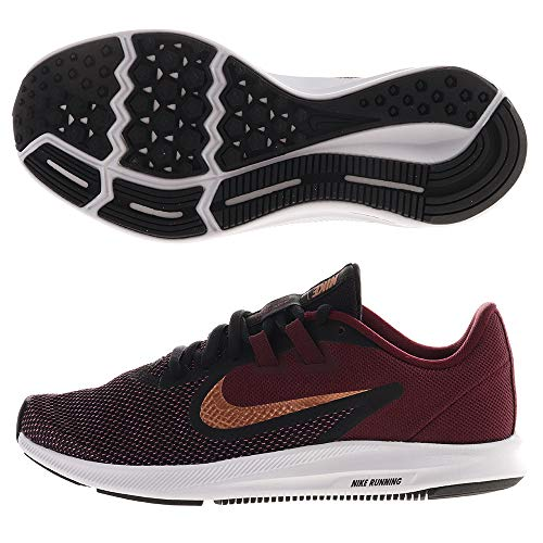 Nike Women's Downshifter 9 Running Shoe, Night Maroon/Metallic Copper-Black, 8 Regular US