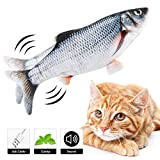 Dearwhite 2020 New Electric Moving Fish Cat Toy, Realistic Plush Simulation Electric Wagging