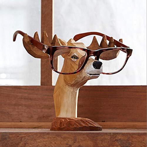 Expositor de Gafas Creativa hecha a mano de los vidrios de exhibición del contador pequeños adornos gafas de visualización de la ventana de exhibición del stand de joyería Organizador de Gafas