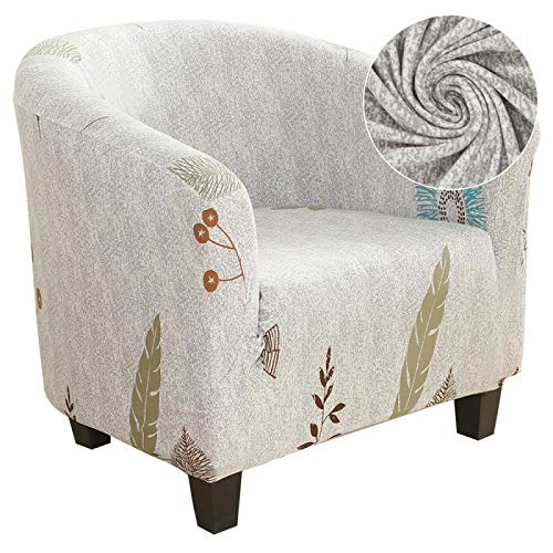 HGFHGD Estiramiento de café bañera silla cubierta sillón sofá cubierta hogar muebles poliéster sofá cubierta cubierta cubierta cubierta protectora de un solo asiento de la cubierta estilo-14