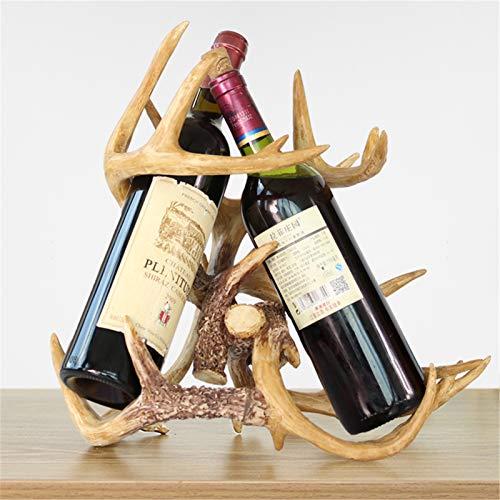 KORANGE Botelleros Encimera Almacenamiento De Vino Cestas De Regalo Campestres Soportes De Vino para Mostrador