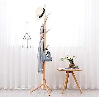 YIREI ポールハンガー 木製 コートハンガー ハンガーラック スリム コート掛け バッグ掛け かばんかけ 枝型設計 組立て簡単 省スペース 安定感が抜群 頑丈 衣類収納 高さ175cm