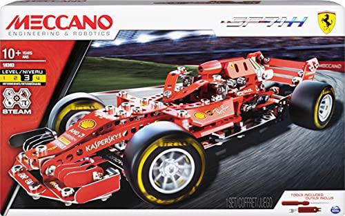 Meccano 6044641 - Maqueta de Fórmula 1 Ferrari, Juguete de construcción - Mint - Stem - Maqueta - Construcción con Herramientas