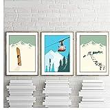 YaShengZhuangShi Leinwand Malerei Vintage Wintersport