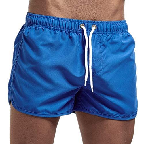 N\P Pantalones cortos de color sólido de los hombres de verano sueltos transpirables pantalones cortos casuales
