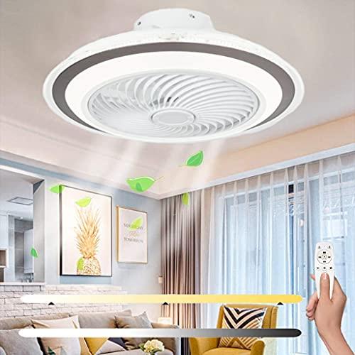 Ventilatore da Soffitto con Telecomando Leggero Ventilatore da Soffitto a 3 Velocità del Vento Temperatura Regolabile Luce da Soffitto Funzione Timer per Soggiorno Camera da Letto di Casa