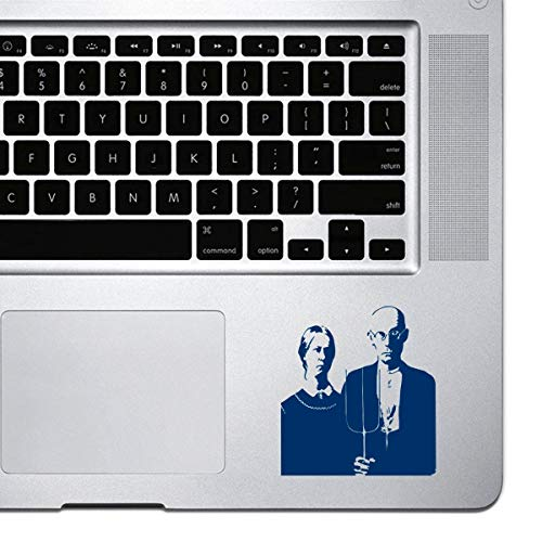 Dkisee Laptop Aufkleber fur MacBook Pro Chromebook und Laptops Vinyl Aufkleber PVC navy 5 inch