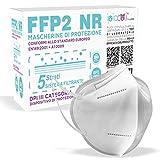 Mascherine FFP2 Certificate CE, Mascherina Certificata FFP2 KN95 DPI con BFE ≥ 99%, Maschera Filtrante FFP2 NR a 5 Strati , Sicura e Confortevole, 10 pezzi Sigillate Singolarmente