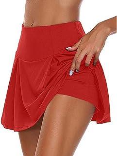 Falda Pantalón Deportiva de Tenis Golf para Mujer Skorts Casuales Cintura Alta Swing Mini Falda Entrenamiento Pilates Fitn...