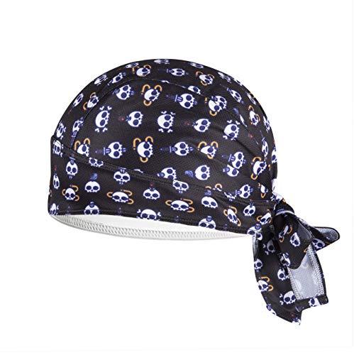 ShopINess Gorro Bandana para Ciclismo con Mini Calaveras (Negro)