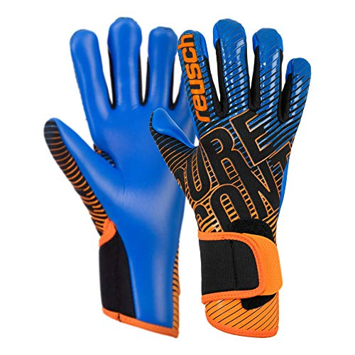Reusch Herren Pure Contact 3 S1 Junior Torwarthandschuh, Black/Shocking orange/deep Blue, 6.5