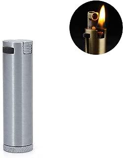 Vintage Oil Lighter Retro Cigarette Flint Wheel Lighter Metal Refillable Fire Starter,Silver