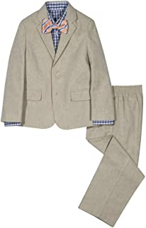 Nautica Boys' 4-Piece Suit Set with Dress Shirt, Bow Tie, Jacket, and Pants