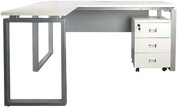 Mahmayi Metal/Wood Carre Modern Workstation Desk, ME5116LWH, White, H75 x W160 x D160 cm