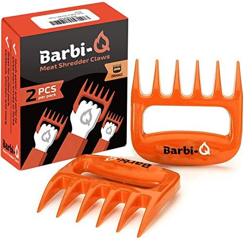 Barbi-Q Par de Garras de Carne para Barbacoa | Tenedores para Carne Tirado | Trituradora para Cerdo Tirado (Naranja)