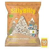 SillyBilly Tortitas BIO de Arroz Integral y Arroz Negro en Divertidos Triángulos. PACK 10 X 30g