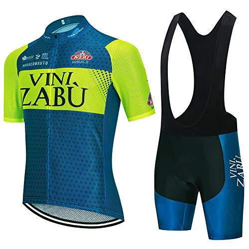 ZHXIAOX Tute da ciclismo estive da uomo tute da ciclismo a maniche corte e pantaloncini da ciclismo corti con cuscinetti in gel 3D