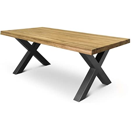 Comifort Table à manger moderne en chêne massif «Sauvage» Plusieurs tailles 140-220cm Moderne 200x100 Chêne