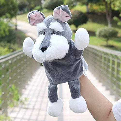 DINEGG Niedliche Cartoon Hundepuppe Kinder Handhandschuh Marionette Baby Kind Zoo Bauernhof Tier Hand Handschuh Marionette Finger Sack Plüsch YMMSTORY