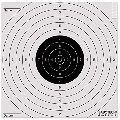 Babotech - Dianas para Rifle de Aire comprimido, 14 x 14 cm, 100 Unidades, 784991, Blanco, 100 Unidades
