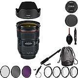 Canon EF 24-70mm f/2.8L II USM Lens Bundle with Manufacturer Accessories & Premium Kit for EOS 7D Mark II, 7D, 80D, 70D, 60D, 50D, 40D, 30D, 20D, Rebel T6s, T6i, T5i, T4i, SL1, T3i, T6, T5, T3, T2i