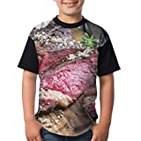 Buffalo Brown American Barbecue Dry Aged Wagyu Tomahawk Steak Board Comida Bebida Carne de Res Rojo Angus Australiano Barbacoa Niños Adolescentes Camiseta clásica Camiseta Divertida M