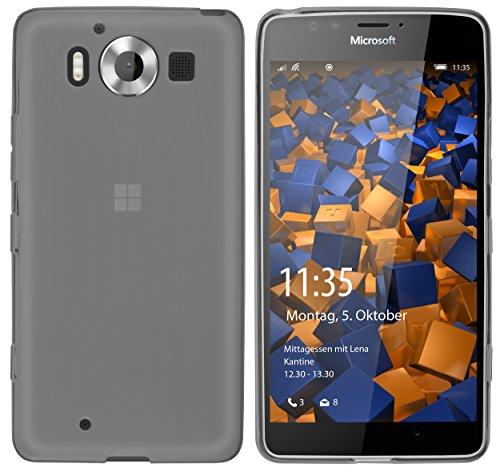 mumbi Hülle kompatibel mit Nokia 950 Handy Case Handyhülle, transparent schwarz