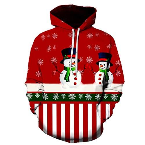 URSING Tops-Mens Autumn Winter Christmas Snowman Printing Long Sleeve Sweatershirt Tops