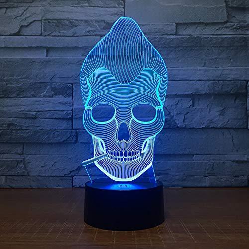 3D nachtlampje aap schedel roken 7 kleuren touch control thuis decor, illusie LED nachtlampje enz tafellamp, Kerstmis verjaardag beste cadeau