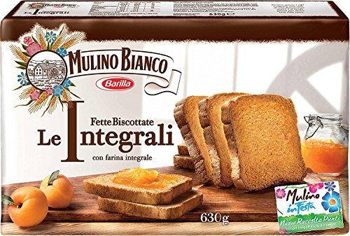 6x Mulino Bianco Fette Biscottate Volkoren 630 g Vollkorn Zwieback aus italien