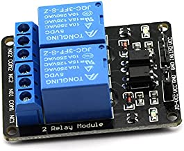 DZS Elec 1pcs 2 Channel Relay Module With Optocoupler 5V Active Low Level Amplifier Trigger JD-VCC Relay Power VCC Power