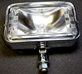 Superior Dixie Distributing 39-2-1-06 Dixie 6v 45W Motorcycle Chrome Headlight Assembly 7' Rectangle Lamp