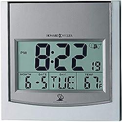 Howard Miller Techtime I Wall Clock 625-235 – Digital Alarm Clock with Radio Control Movement